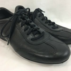 Cole Haan Leather Sneakers Shoes Womens 8 Black